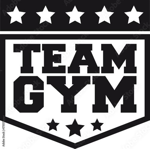 Team Gym Wappen Workout Gym Beast Mode Cool Design Logo