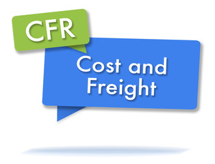 CFR incoterms initals in colored bubbles