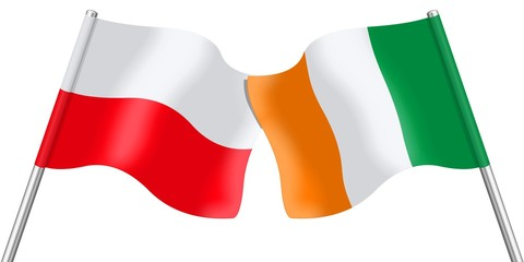 Flags. Poland and Ireland