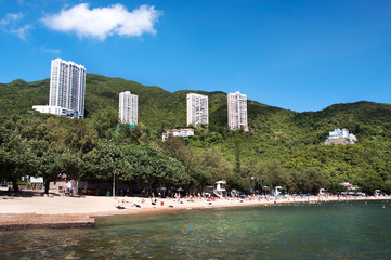 Deep Water Bay beach during summer, Hong Kong