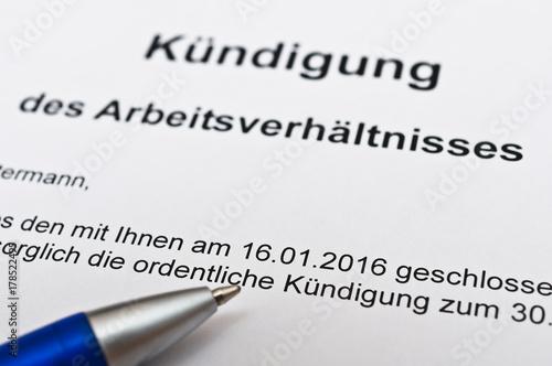 Kündigung Arbeitsvertrag Stockfotos Und Lizenzfreie Bilder Auf