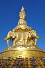 Statue of Samantabhadra, Golden Summit, Emei Shan, China