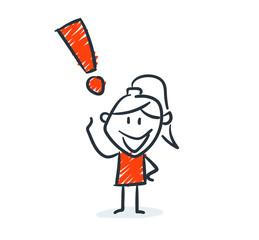 Strichfiguren - Frauchen: Antwort, Idee, Tipp. (2)