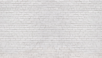 white brick wall, texture of whitened masonry as a background