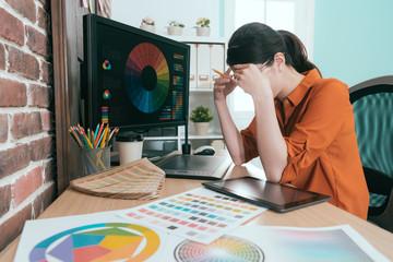 pretty young graphic design company female staff