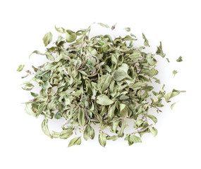 Dry thyme isolated on white background