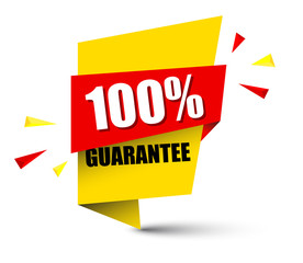 banner 100 percent guarantee