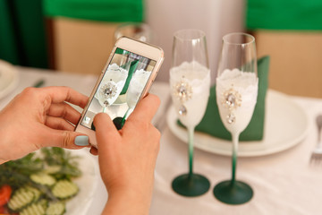 Wedding blog. Green wedding decoration