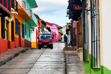 Streets in San Cristobal de las Casas, Mexico