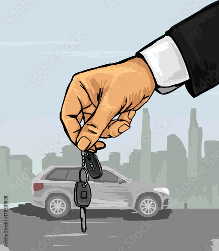 Hand With The Car Keys Stock Image And Royalty Free Vector Files On