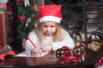 Christmas Child Write Letter to Santa Claus.