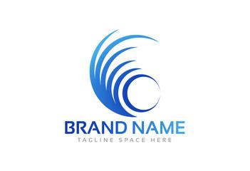 circular colorful logo concept