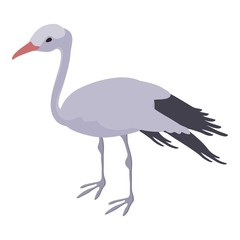 Stork icon, isometric style