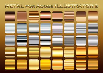 金 銀 銅 メタルカラー グラデーションセット