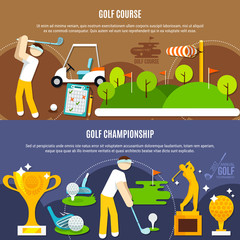 Wall Mural - Golf Competition Horizontal Banners