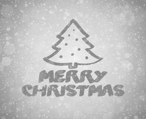 Beautiful Christmas wishes on shiny background with snowflakes - typography. Vector.