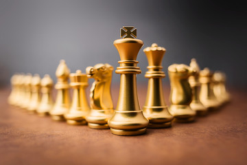 chess board game concept of business ideas and competition and team strategy plan success meaning
