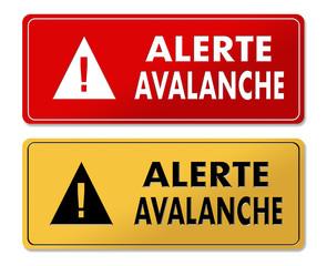 Avalanche Alert warning panels in French translation