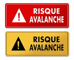 Avalanche Risk warning panels in French translation