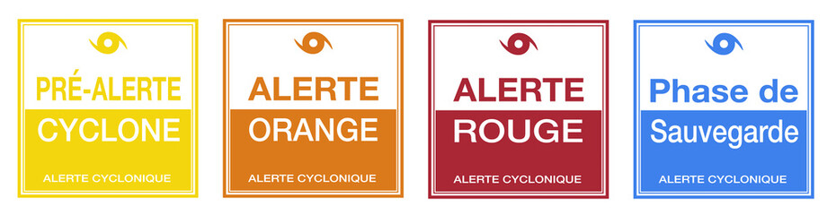 Cyclone Alert Steps in French Translation