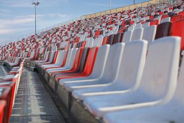 Empty arena seats