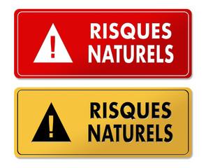 Natural Risks warning panels in French translation
