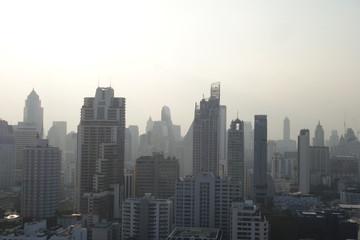 タイ、バンコク、ビル群