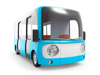 modern cartoon bus