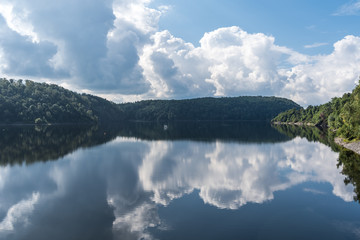The Rappbode Dam lake  in Harz, Germany