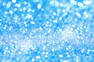 Holiday background with blue bokeh. Abstract background.