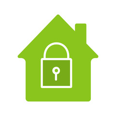 Locked house glyph color icon
