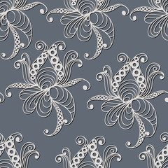 Seamless pattern with floral ornament 16