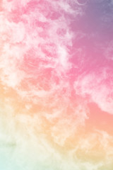 cloud background with a pastel colored gradient
