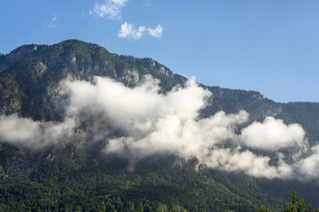 Beautiful mountains with cloud