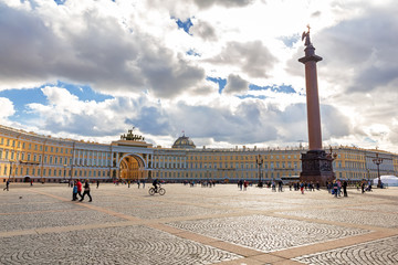 Palace Square and Headquarters in St. Petersburg, Russia