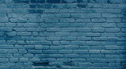 Vintage Blue brick wall Background