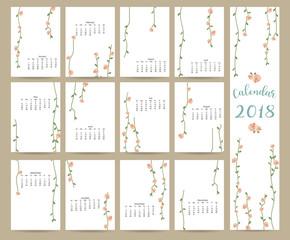 monthly calendar 2018 printable