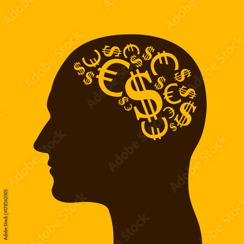 Economist Banker Investor Or Greed Person Man Is Thinking About