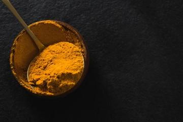 Turmeric powder in bowl