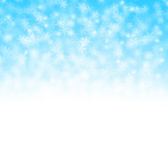 Christmas background with flakes