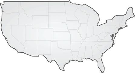 USA. states border map. vector illustration