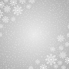 Winter background with snowflakes and dots for Christmas and New year design.
