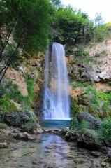 Waterfall Veliki buk, Lisine, Serbia