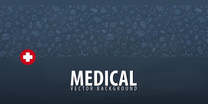 Medical background. Medical care. Health care. Vector medicine illustration.