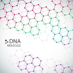 Structure of molecules. Abstract background dna