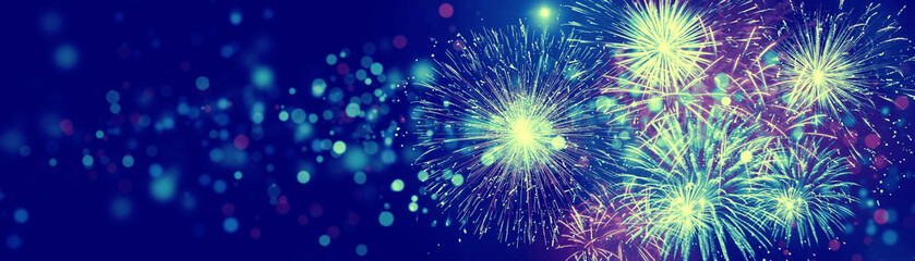 Wunderschönes Feuerwerk