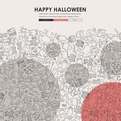 Halloween Doodle Website Template Design