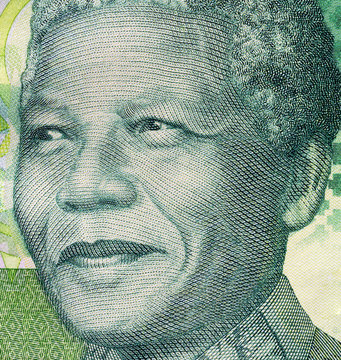 Biella, Italy - October 29, 2017. Banknote with Nelson Mandela portrait. South African Reserve Bank