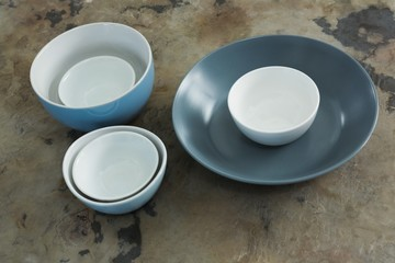 Various types of plastic bowl