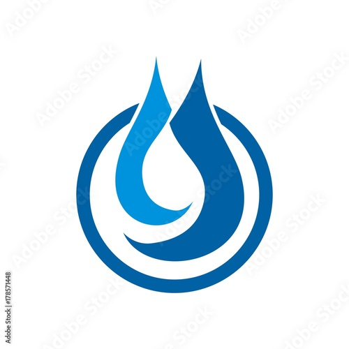 Flame Oil Water Drop Shape For Natural Gas Company Logo Design